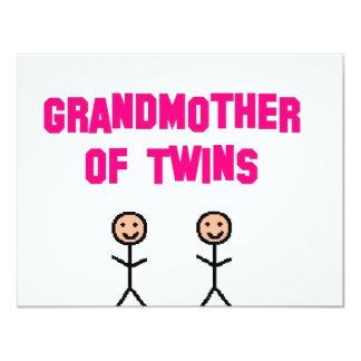 grandma twins 4.25x5.5 paper invitation card