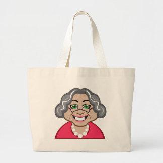 Grandma vector large tote bag