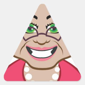 Grandma vector triangle sticker