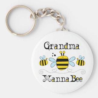 Grandma Wanna Bee Keychain