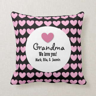 GRANDMA We Love You with Hearts and Lace C05 Pillow