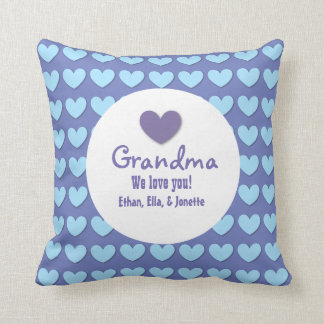 GRANDMA We Love You with Hearts and Lace C07 Throw Pillow