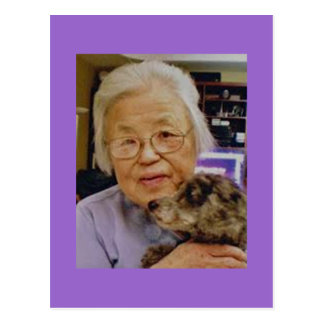 Grandma with Dog Postcard