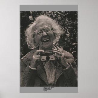 Grandma with her Hawkeye Poster