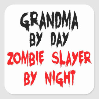 Grandma Zombie Slayer Square Sticker