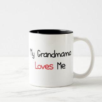 Grandmama Loves Me Two-Tone Coffee Mug