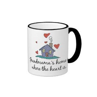 Grandmama's Home is Where the Heart is Ringer Mug