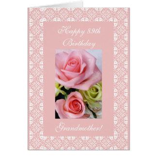 Grandma's 89th birthday - rose greeting card