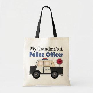 Grandma's A Police Officer Canvas Bag