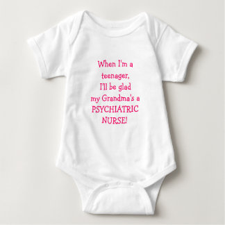 Grandma's a Psychiatric Nurse-kid humor Baby Bodysuit