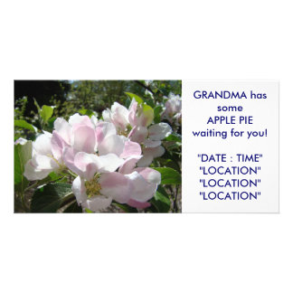 GRANDMA'S Apple Pie Card Announcement Invitations