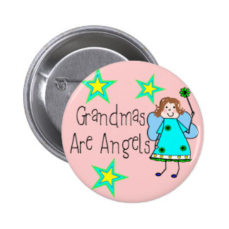 Grandmas Are Angels Gifts Button