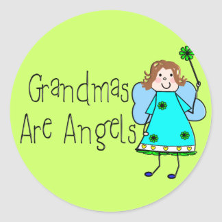 Grandmas Are Angels Gifts Classic Round Sticker
