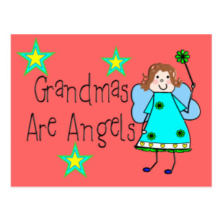 Grandmas Are Angels Gifts Postcard