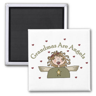 Grandmas Are Angels T-shirts and Gifts 2 Inch Square Magnet