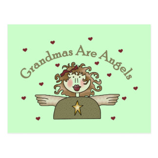 Grandmas Are Angels T-shirts and Gifts Postcard