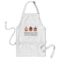 Grandmas are moms with lots of frosting adult apron