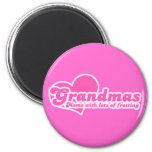 Grandmas are Moms with Lots of Frosting Refrigerator Magnets