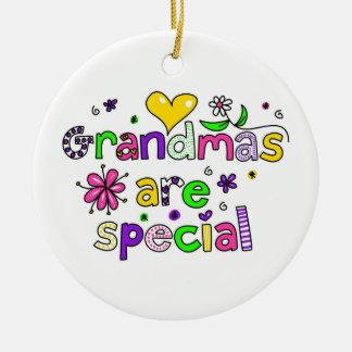 Grandmas Are Special Ceramic Ornament