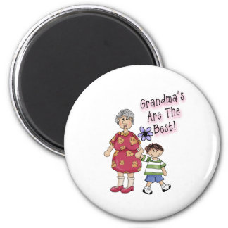 Grandmas Are The Best 2 Inch Round Magnet