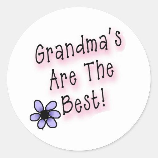 Grandmas Are the Best Classic Round Sticker