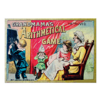 Grandma's Arithmetical Game - Vintage Poster