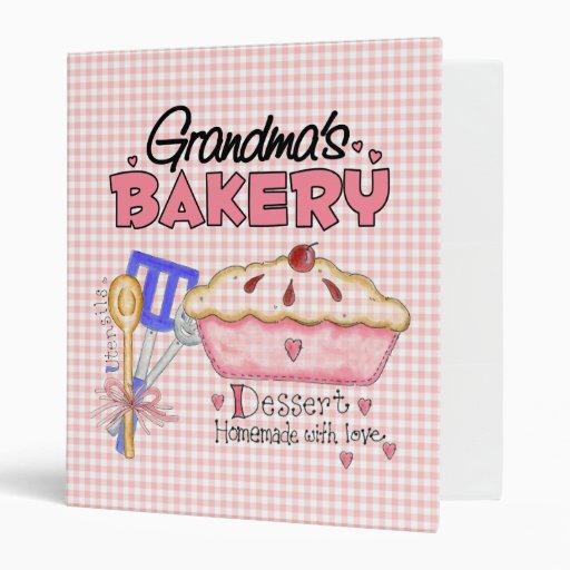 Grandma's Bakery Recipe Binder