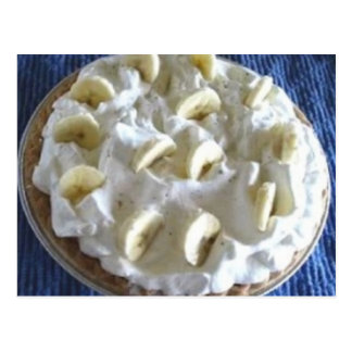 Grandma's Banana Cream Pie Recipe Postcard