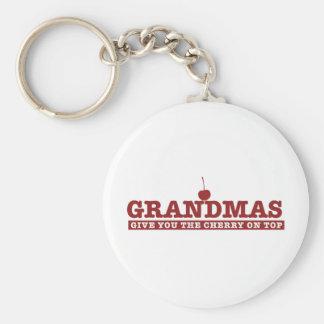 Grandmas Basic Round Button Keychain