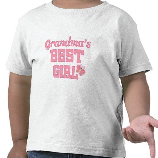 Grandmas Best Girl Tee Shirts