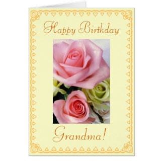 Grandma's Birthday flowers Card