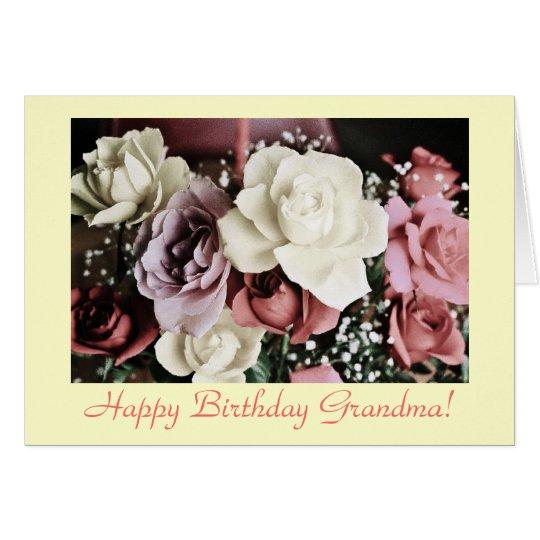 Grandma's birthday roses card