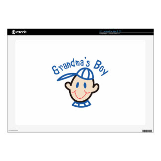 "Grandmas Boy 17"" Laptop Decal"