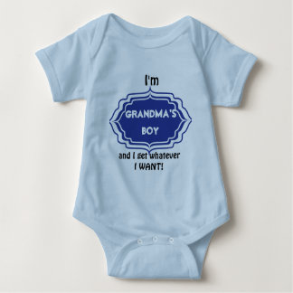 Grandma's Boy Baby Bodysuit
