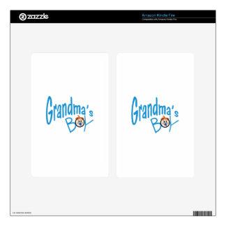 Grandmas Boy Kindle Fire Decals