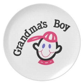 Grandmas Boy Melamine Plate