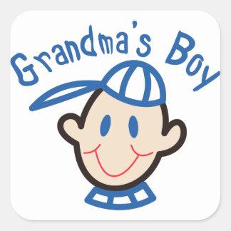 Grandmas Boy Square Sticker