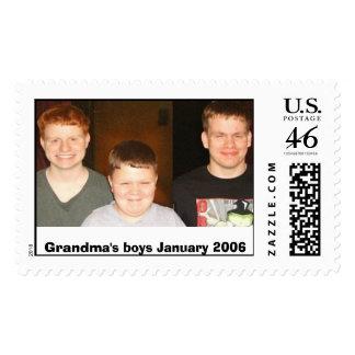Grandma's boys January 2006 Stamps