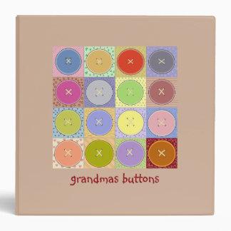 Grandmas Buttons 3-Ring Binder