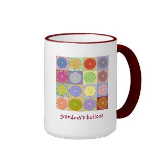 Grandmas Buttons Ringer Mug