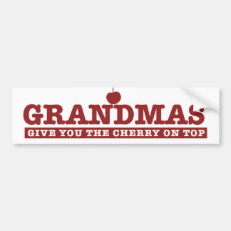 Grandmas Car Bumper Sticker