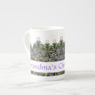 Grandma's Christmas Tea Bone China Mugs