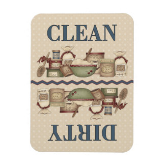 Grandma's Clean/Dirty 3x4 in. Rectangle Magnets