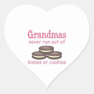 Grandmas Cookies Heart Sticker