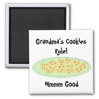 Grandma's Cookies Rule 2 Inch Square Magnet
