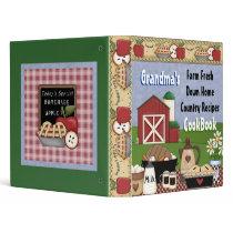 Grandma's Country Recipes Cookbook Binder