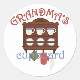 Grandmas Cupboard Classic Round Sticker