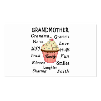Grandma's Cupcakes For Grandmothers Double-Sided Standard Business Cards (Pack Of 100)