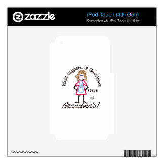 Grandma's! Decals For iPod Touch 4G