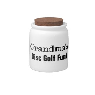 Grandma's Disc Golf Fund Desk Jar or Bank